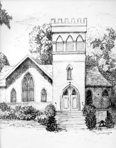 Drawing of Old Church